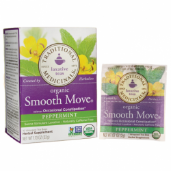 Organic Smooth Move Tea  Peppermint, 16 Bag(s)