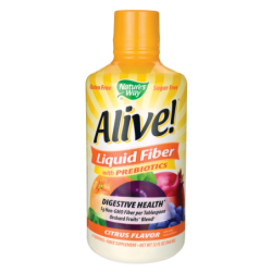 Alive Liquid Fiber with Prebiotics  Citrus, 16 fl oz (480 mL) Liquid