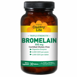 Triple Strength Bromelain, 500 mg 30 Tabs