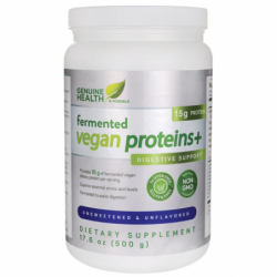 Fermented Vegan Proteins Unsweetened & Unflavored, 17.6 oz (500 grams) Pwdr