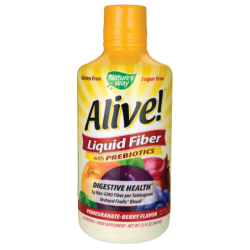 Alive Liquid Fiber with Prebiotics  PomegranateBerry, 16 fl oz (480 mL) Liquid