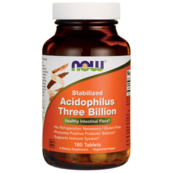 Stabilized Acidophilus Three Billion, 180 Tabs